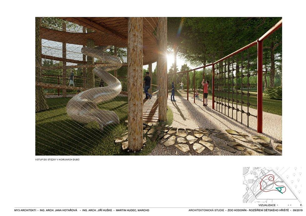 Nová podoba zoologického zahrady v Hodoníně. Vizualizace: MY3 architekti