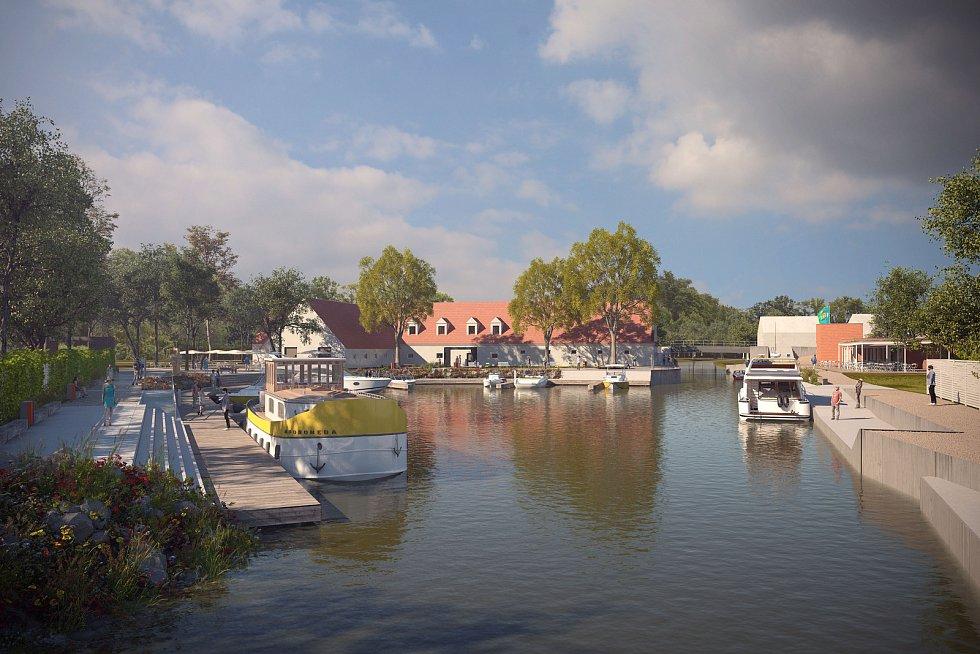 Nejnavštěvovanější přístav Baťova kanálu ve Strážnici se dočká přestavby. Křoví nahradí trávník, lavičky i restaurace, zvýší se i počet míst pro kotvení lodí.