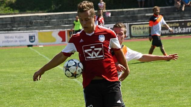 Fotbalisté Blatnice vyhráli i třetí letošní duel. V Kyjově se střelecky prosadil i Roman Sládeček (na snímku).