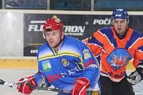 Jihomoravské hokejové derby: Hodonín (v oranžovém) vs Břeclav
