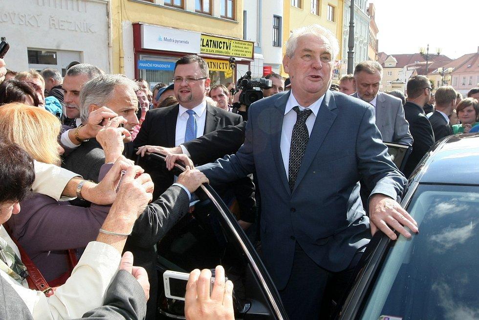 Prezident České republiky Miloš Zeman ve Vyškově.