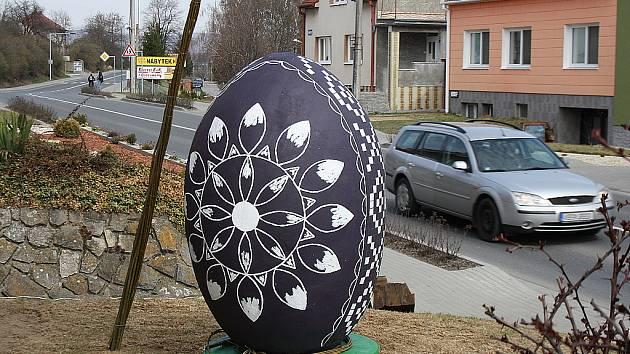 Kraslice vítá řidiče jedoucí od Kyjova.