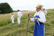 Na louce nad Malou Vrbkou se sešli kosci z okolí i ze Slovenska. Už podevatenácté.