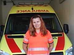 Záchranářka Jitka Jágerová.