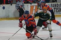 Hodonínští hokejisté porazili hráče Vsetína 3:0.