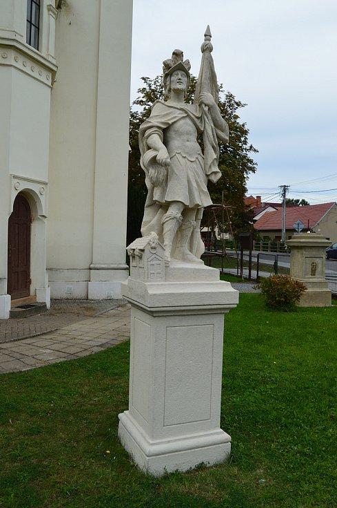 Socha svatého Floriána v Podolí na Brněnsku.