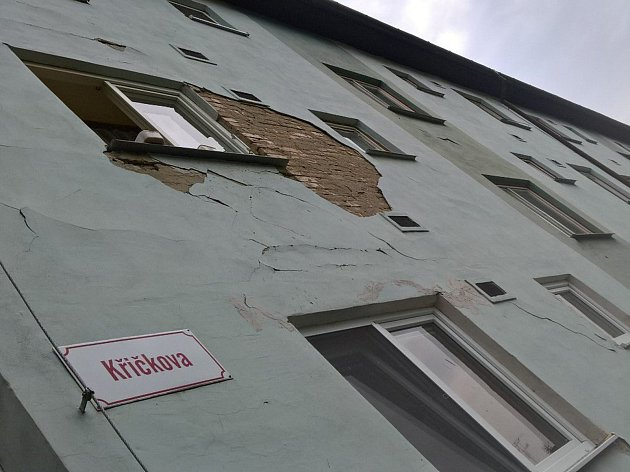 Jeden zdomů vhodonínské místní části Bažantnice, který má problémy se statikou.