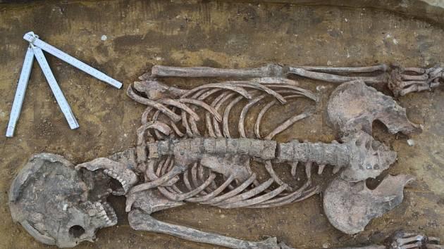 Záchranný archeologický výzkum u mutěnické základní školy.