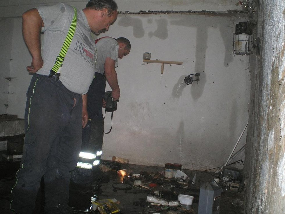 Požár domu ve Vracově.