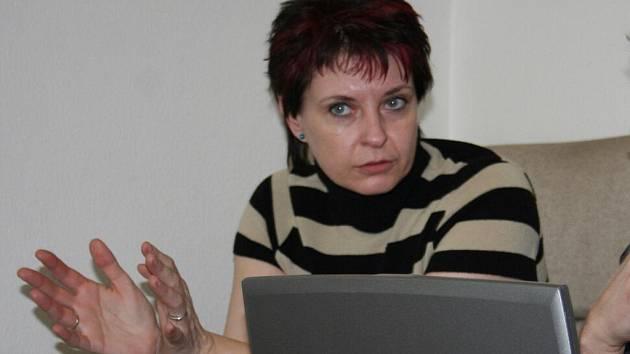 Milana Grauová při online rozhovoru v redakci Hodonínského deníku a týdeníku Slovácko