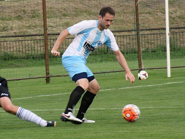 Fotbalisté FC Veselí nad Moravou neuspěli na hřišti Boskovic, kde prohráli 0:2. Ve víkendovém zápase se neprosadil ani Vlastimil Klimek (na snímku).