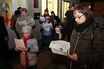 Česko zpívá koledy v Domě dětí a mládeže v Kyjově.