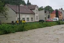 Velká voda v Lipově.