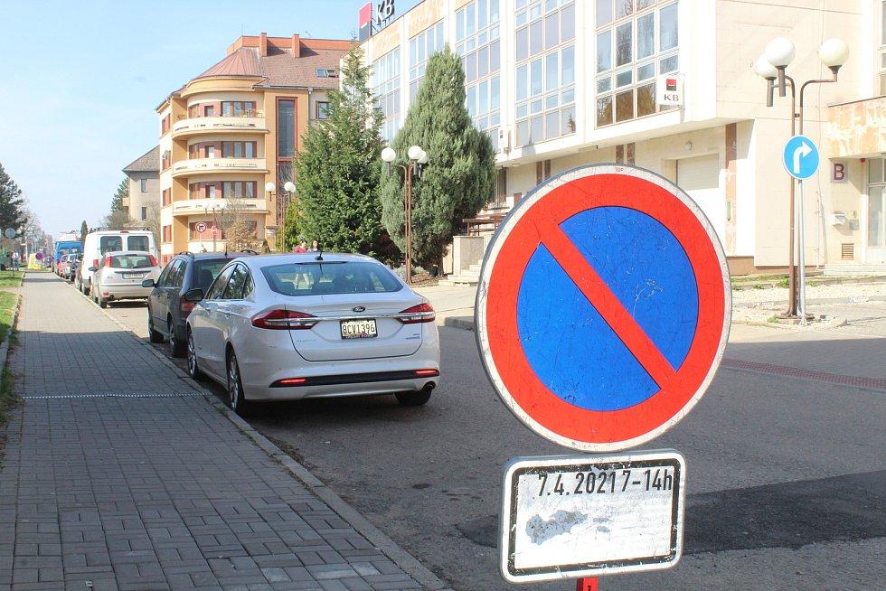 Bloková očista hodonínských ulic.