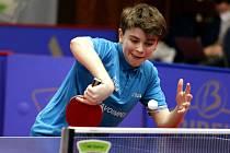 Teprve čtrnáctiletý Štěpán Brhel podal v prvním čtvrtfinále play-off slibný výkon.