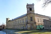 Zámek ve Veselí nad Moravou v lednu 2020.