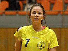 Mladá spojka Natálie Gärtnerová (na snímku) bude v příští interligové sezoně hrát za nováčka z Hodonína.