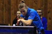 Polská reprezentantka Natalia Partykaová (na snímku) si na svoji první trofej v hodonínském dresu musí ještě počkat. Slovácký celek podlehl ve finále Českého poháru sousední Břeclavi 4:5 a skončil druhý.