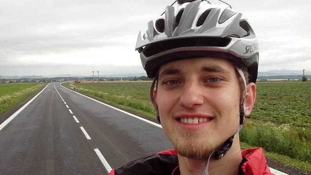 Pavel Novotný vyrazí na kole značky Liberta z Čejkovic až pod Mont Blanc.