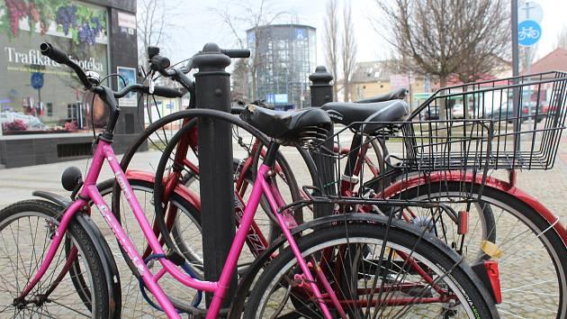 Cyklověž v Hodoníně první březnové odpoledne.