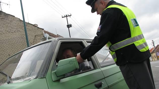 Policejní akce ve Vracově a Vlkoši.