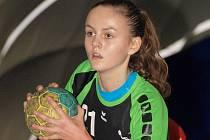 Na výkony i branky spojky Nikoly Kalinové (na snímku) bude hodonínský tým na domácím mezinárodním turnaji hodně spoléhat.