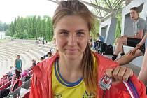 Mladá kyjovská atletka Sylvie Cahlíková získala na mistrovství Moravy a Slezska staršího žactva v Třinci dvě stříbrné medaile.