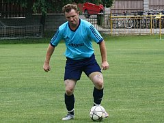 Fotbalisté Milotic vyrukovali na Velkou nad Veličkou s Lukášem Hofrem (na snímku) na hrotu útoku, kam se vrátil po dvou letech.