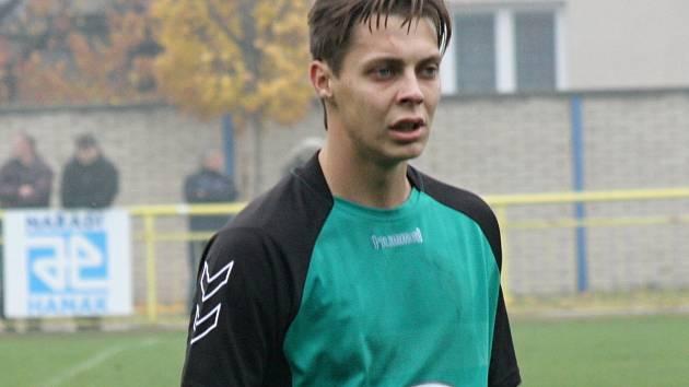 Ratíškovický útočník Tomáš Vacenovský (na snímku) se v sobotním derby se sousedními Dubňany blýskl dvěma góly.