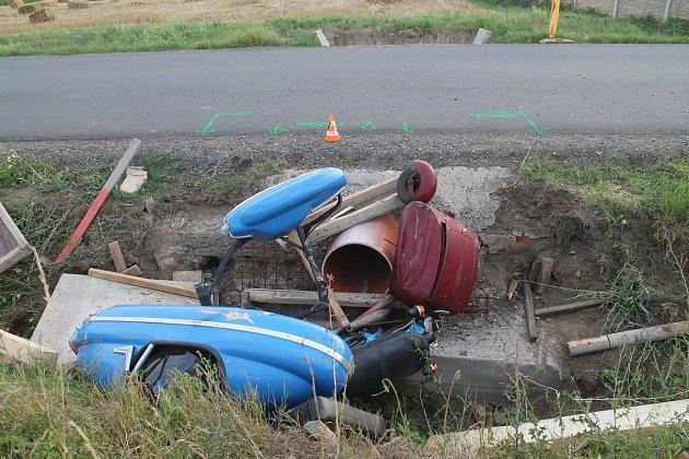 Nehoda motorky u Dambořic na Hodonínsku.