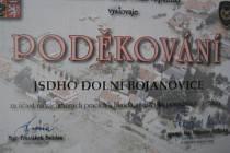 Poděkování dobrovolným hasičům z Dolních Bojanovic od ministerstva vnitra