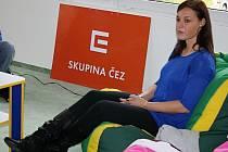 Dana Hadačová Čechová diskutovala s hodonínskými studenty.