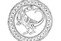 Předloha pro mikulčické ptačí motivy na stříbrné nádobě ze střední Asie.