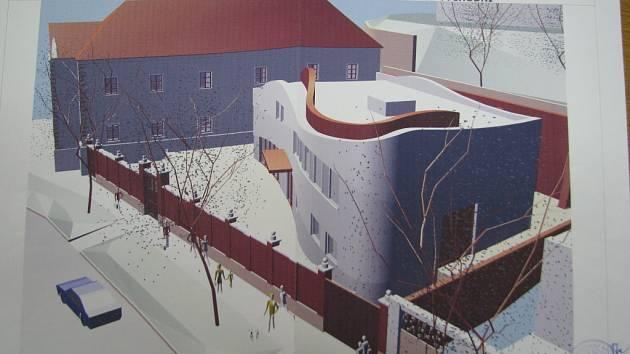 Nová přístavba Vlastivědného muzea v Kyjově má moderní design.