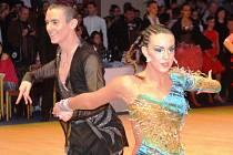Nikolas Novák s Klárou Adamovou skončili v semifinále mistrovství ČR v latinsko-amerických tancích 2014 na osmém místě.
