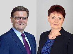 Zdeněk Škromach (ČSSD) bude na Hodonínsku podle propočtů v druhém kole senátních voleb obhajovat funkci v souboji se starostkou Ratíškovic Annou Hubáčkovou (KDU-ČSL).