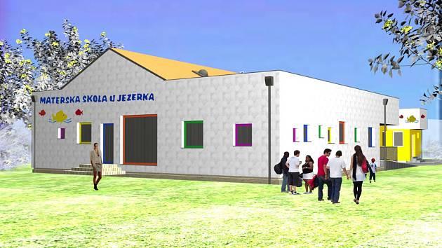 Vizualizace přístavby ratíškovické mateřské školy U Jezérka.