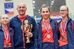 Mladé české stolní tenistky skončily v Hodoníně stříbrné.