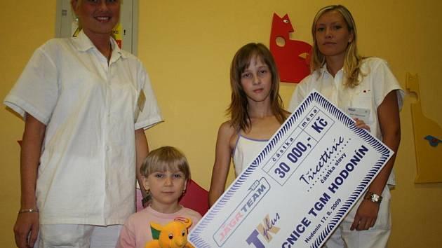 Výtěžek exhibičního utkání Jágr teamu s Hodonínem poputuje na dětské oddělení Nemocnice TGM v Hodoníně.