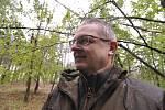 Miliony chroustů se právě rojí v lesích Moravské sahary na Hodonínsku. Spásají listy stromů a kladou do půdy vajíčka. Larvy ohrožují na osm tisíc hektarů lesa. Postřik však zatrhli ochránci přírody. Lesníci označili stav za kalamitní. Na snímku Libor Stra