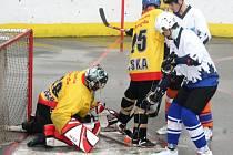 Brankář CSKA Roman Senteši inkasoval proti dorostencům Rigumu pouze jednou.