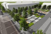 Veselí nad Moravou zveřejnilo aktualizaci návrhu na úpravu centra města. Přibyla relaxační zóna se zelení, lavičkami a vodními prvky.