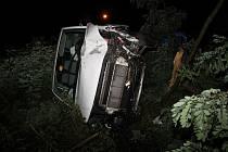 S dodávkou narazil muž do stromu. Nadýchal 2,5 promile.