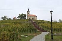 Obnovená kaple svatého Floriána a Šebestiána nad Bzencem.