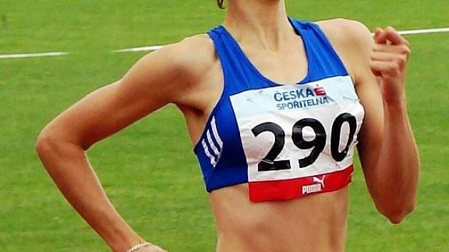 Hodonínská běžkyně Sylva Škabrahová.