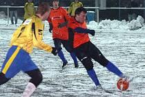 Kyjovským fotbalistům se v přípravě na jarní část sezony daří. Lídr první A třídy si po Napajedlích poradil i s třetiligovou Břeclaví, ve sněhové vánici vyhrál 3:1.