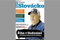 Titulní strana týdeníku Slovácko patří zesnulému trenérovi Miloši Říhovi, jenž zanechal v Hodoníně významnou stopu.