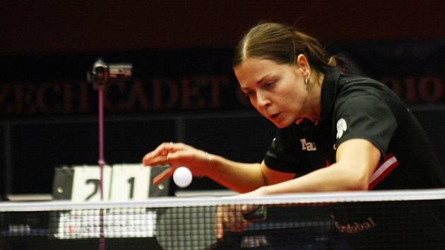 Hodonínská stolní tenistka Kateřina Pěnkavová (na snímku) pomohla českému mistrovi k výhře nad Frýdlantem nad Ostravicí dvěma body.