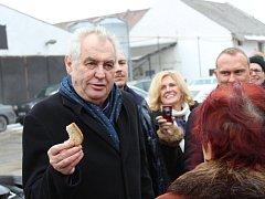 Prezident Miloš Zeman na návštěvě Hodonínska. Ilustrační foto.