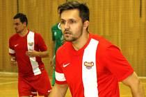 Hodonínští futsalisté zvítězili nad Žabinskými Vlky 8:3. Mezi střelce se zapsal i Ondřej Krejčiřík (na snímku).